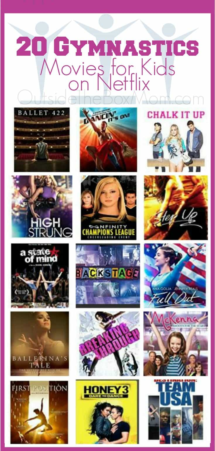 My daughter is really interested in gymnastics. She loved watching some of these titles on Netflix before attending her first class.