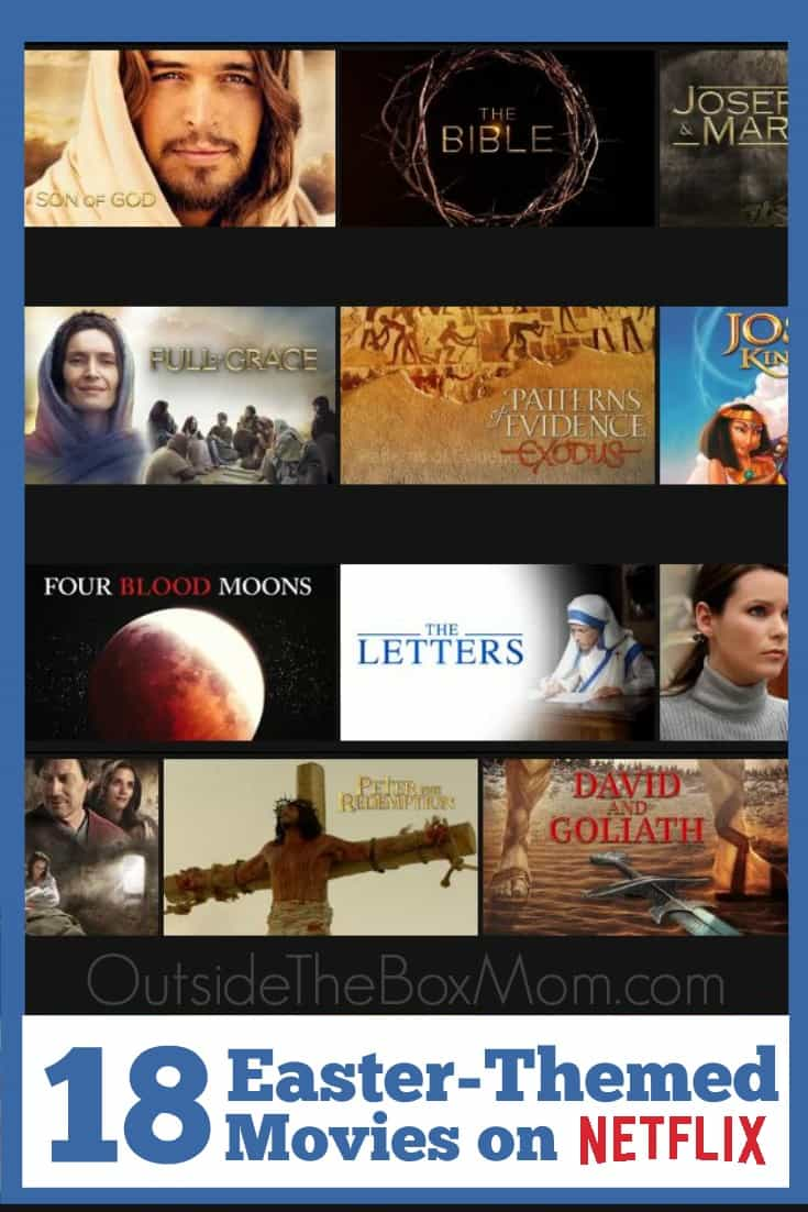 During the Easter season or any time of the year, there are some great Christian and biblical titles and other movies to watch on Netflix for Easter.