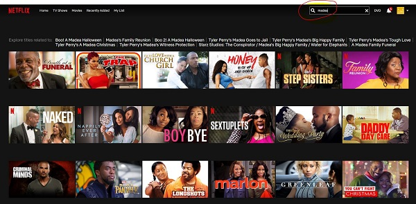 how to find black movies on netflix