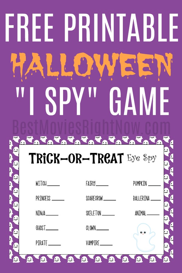 A Trick or Treat Eye Spy is a fun activity for any group of kids on Halloween night. This printable I Spy games can keep a large group of kids busy all night.
