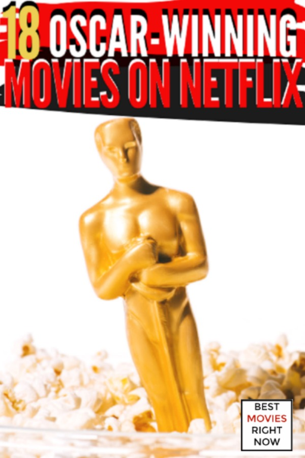 These Oscar-winning movies on Netflix are great to watch during Oscars weekend or any time of year. These Academy Award-winning movies on Netflix won awards for sound, costume design, makeup, music, and the Best Picture.