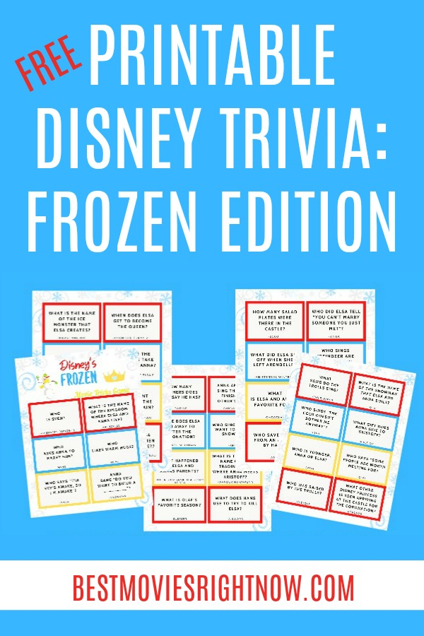 These Disney Frozen trivia questions and answers are perfect for when the weather keeps you trapped inside, family game night, or trivia night.