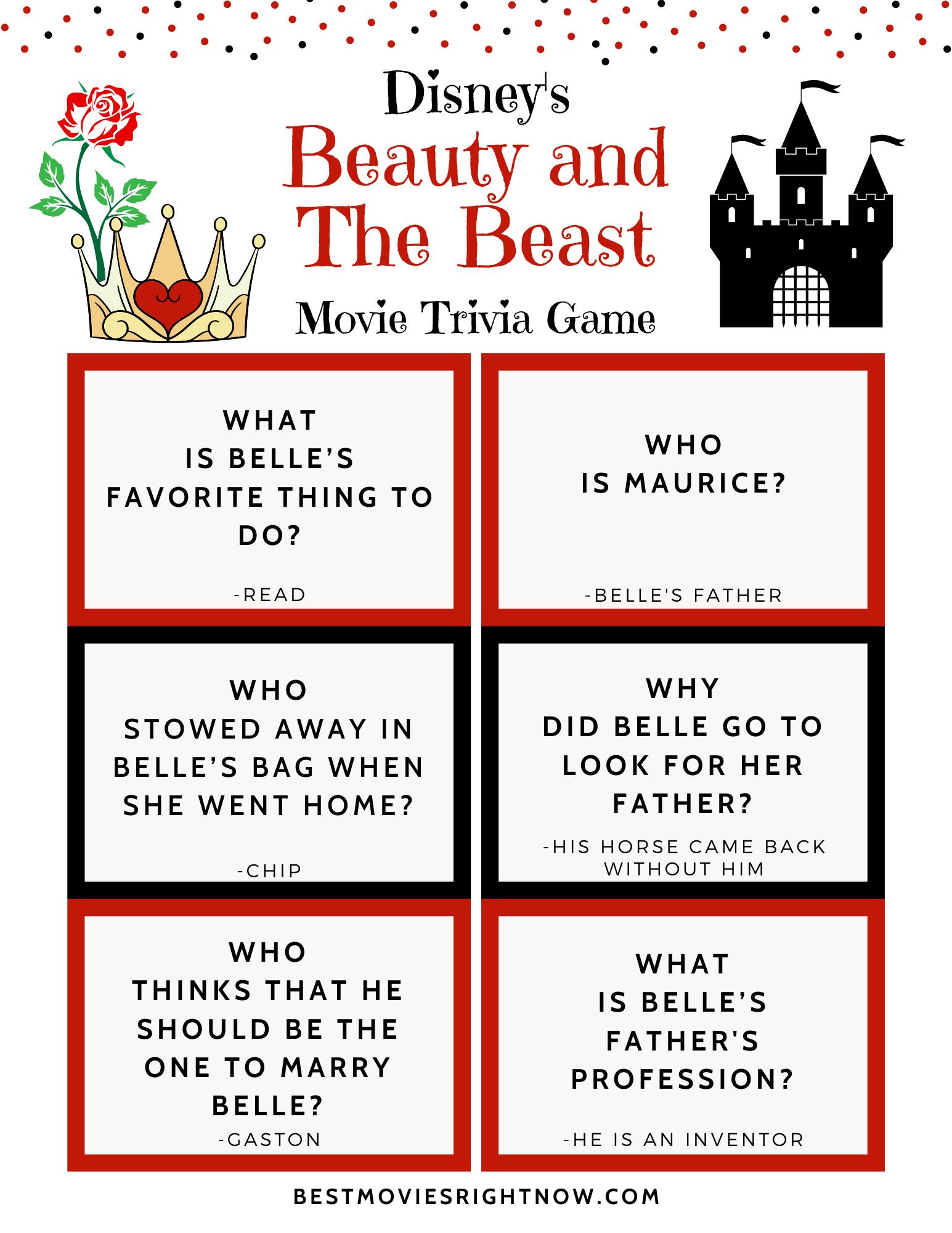 Disney Trivia - Beauty and the Beast