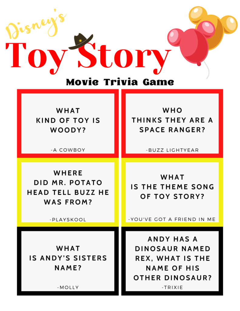 Disney Trivia Toy Story