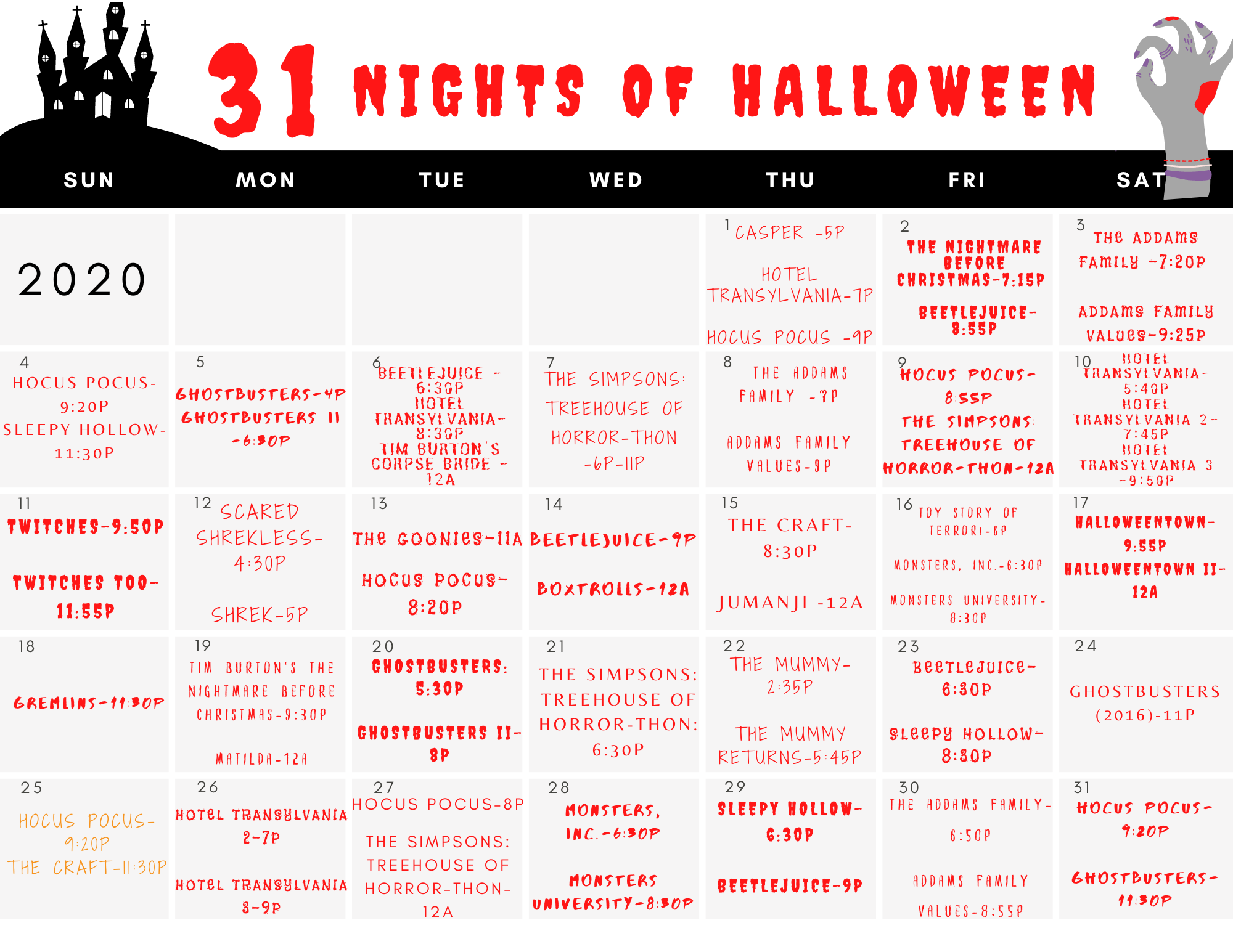 How Can I Watch Halloween 2020 Freeform's 31 Nights of Halloween Schedule 2020   Best Movies