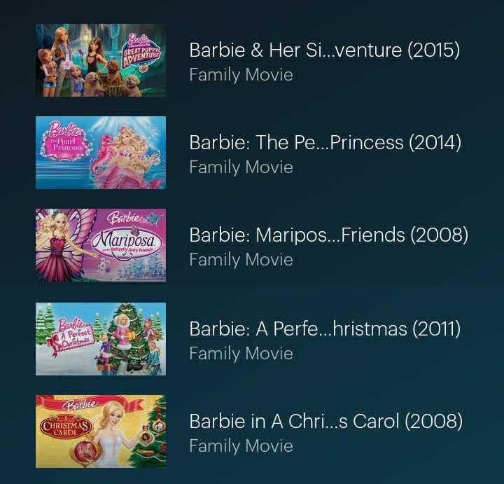 Barbie movies hulu